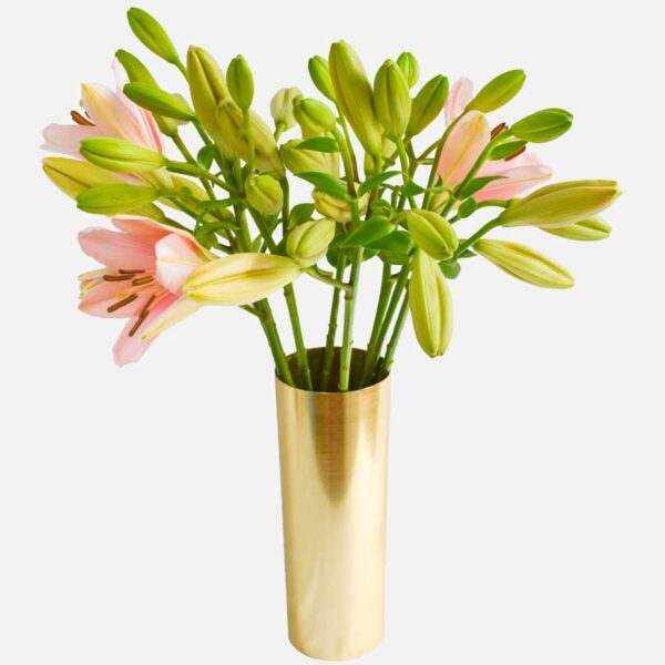 ramo de liliums rosas