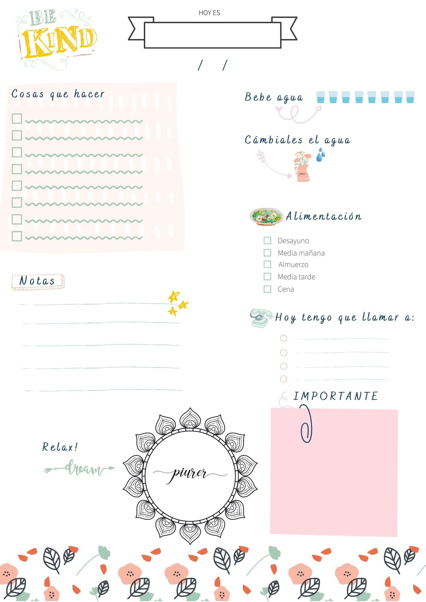planificador semanal pdf