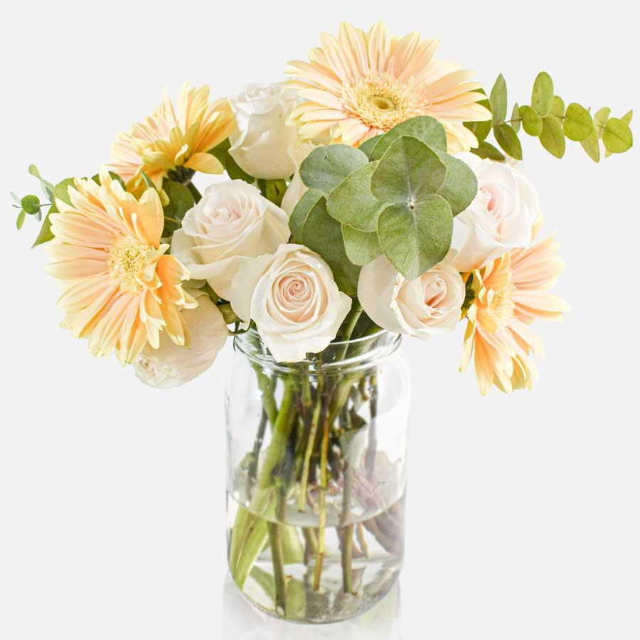 Piur Mesure - Rosas Blancas y Gerberas 1